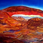 Mesa Arch Sunrise 18x24 In. Orig. $650 Mounted, limited edition print series of 30 are available