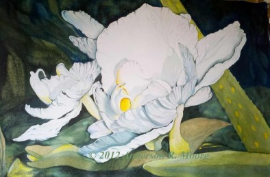 Orchid1jao -48 x 60in. Mounted on canvas (SOLD)