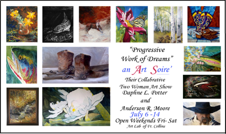 Invitation to July Art Show Opening